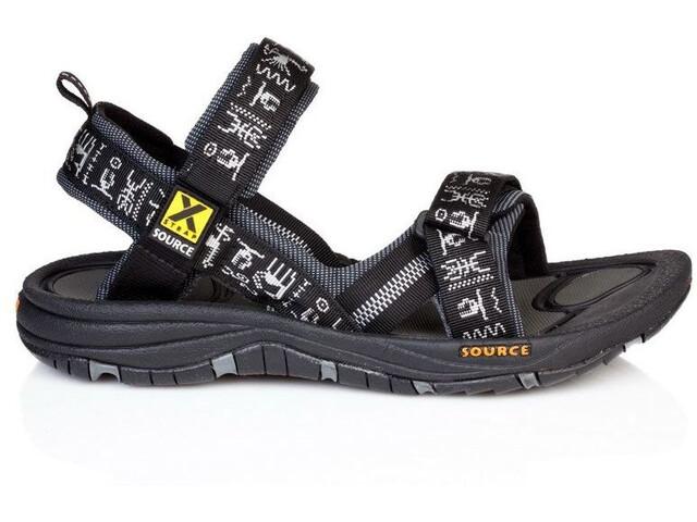 SOURCE Gobi Sandals Herren black inca